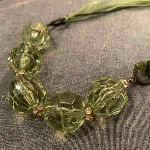 🆕🔥Oversized Green Crystal Necklace